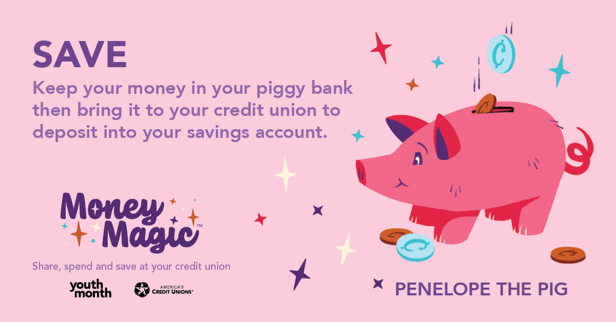 Save With Penelope the Pig